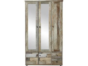 Garderobenschrank BONANZA 2 Dielenschrank Hochschrank Garderobe Driftwood Nachbildung