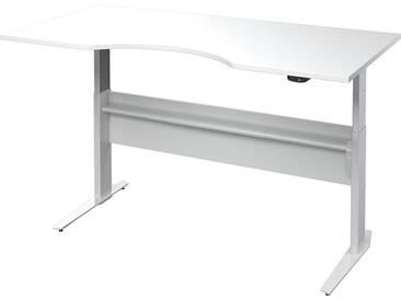 Schreibtisch Prima höhenverstellbar elektrisch ergonomisch 180cm Weiß Grau