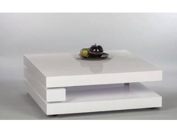 Couchtisch ADELE Beistelltisch Wohnzimmertisch Tisch in Weiss Hochglanz