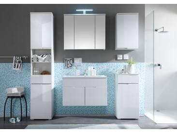 Badmöbel-Set SPICE 5-tlg Badezimmer Badmöbel weiß mit Beleuchtung