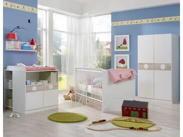 Babyzimmer-Set KIMBA 3tlg Bett Komplettset Wickelkommode kl. Schrank Eiche-Sägerau