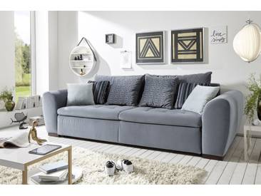 Couch Gaspar Schlafcouch Bettsofa Schlafsofa Sofabett Funktionssofa ausziehbar anthrazit grau 259 cm