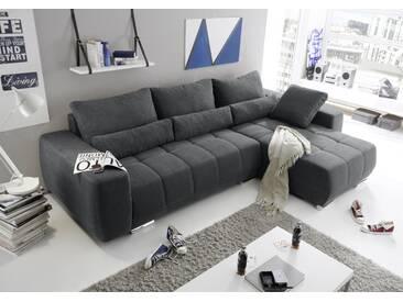 Eckcouch Lopez Couch Schlafcouch Bettsofa Schlafsofa Sofabett Funktionssofa ausziehbar grau 305 cm
