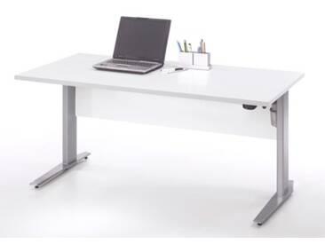 Schreibtisch Prima höhenverstellbar elektrisch ergonomisch 150cm Weiß Grau