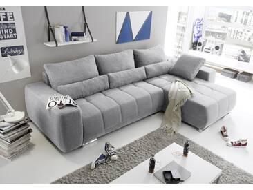 Eckcouch Lopez Couch Schlafcouch Bettsofa Schlafsofa Sofabett Funktionssofa ausziehbar hellgrau 305 cm