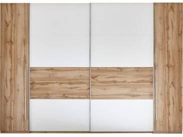 Schwebetürenschrank SAN MARINO Kleiderschrank Schrank Schlafzimmer weiß Wildeiche 267cm