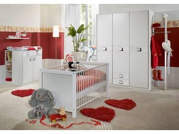 Babyzimmer-Set JALTA 3tlg Komplettset Bett Wickelkommode Schrank Alpinweiß