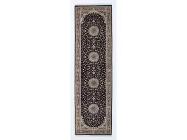 Indo Nain Royal Teppich Orientalischer Teppich 300x85 cm, Läufer, Indien Handgeknüpft Klassisch