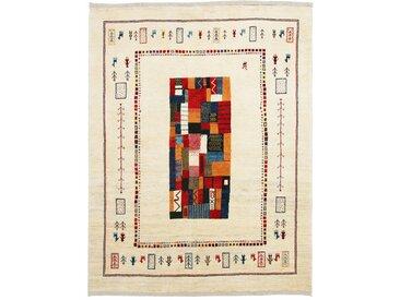 Perser Gabbeh Kashkuli Teppich Orientalischer Teppich 194x152 cm Handgeknüpft Modern