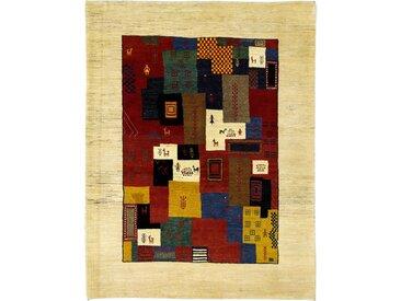 Perser Gabbeh Loribaft Teppich Perserteppich 194x149 cm Handgeknüpft Modern