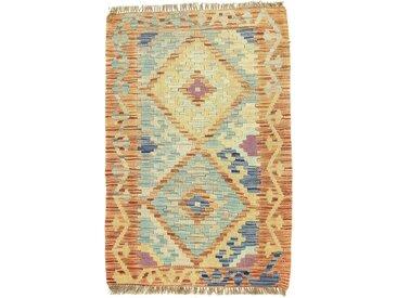 Kelim Afghan Teppich Orientteppich 88x59 cm Handgewebt Klassisch