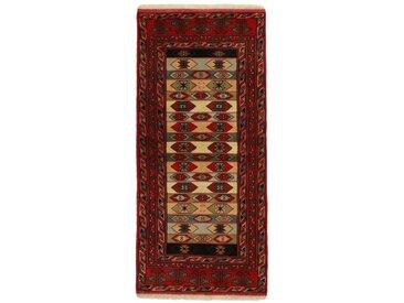 Turkaman Teppich Orientteppich 189x86 cm, Läufer Handgeknüpft Klassisch