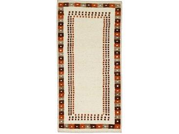 Perser Gabbeh Kashkuli Teppich Perserteppich 167x83 cm, Läufer Handgeknüpft Modern