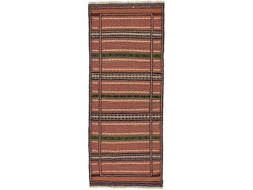 Kelim Kordi Teppich Orientteppich 206x83 cm, Läufer Handgewebt Klassisch