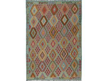 Kelim Afghan Teppich Orientalischer Teppich 291x211 cm Handgewebt Klassisch
