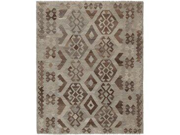 Kelim Afghan Teppich Orientalischer Teppich 196x155 cm Handgewebt Klassisch