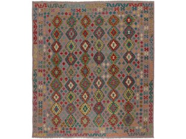 Kelim Afghan Teppich Orientalischer Teppich 289x259 cm Handgewebt Klassisch