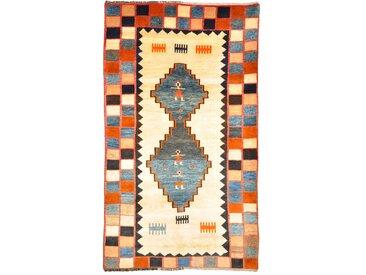 Perser Gabbeh Alt Teppich Persischer Teppich 221x132 cm Handgeknüpft Modern