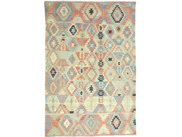 Kelim Afghan Heritage Teppich Orientalischer Teppich 293x200 cm Handgewebt Design Modern