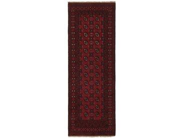 Afghan Akhche Teppich Orientteppich 234x80 cm, Läufer Handgeknüpft Klassisch