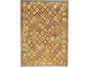 Kelim Afghan Teppich Orientalischer Teppich 289x212 cm Handgewebt Klassisch