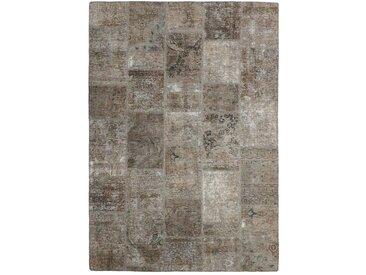 Patchwork Teppich Orientteppich 231x166 cm Handgeknüpft Modern