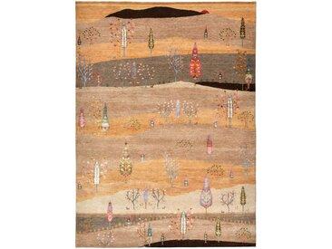 Gabbeh Loribaft Bambus Teppich Orientalischer Teppich 237x172 cm, Indien Handgeknüpft Design Modern