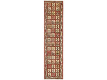 Kelim Soumak Shahsavan Teppich Orientteppich 279x68 cm, Läufer Handgewebt Klassisch