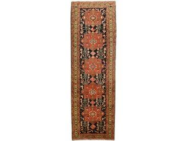 Heriz Teppich Orientalischer Teppich 344x109 cm, Läufer Handgeknüpft Klassisch