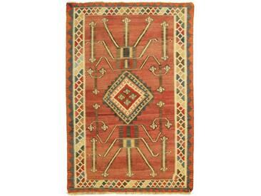 Kelim Fars Old Style Teppich Orientalischer Teppich 216x144 cm Handgewebt Klassisch