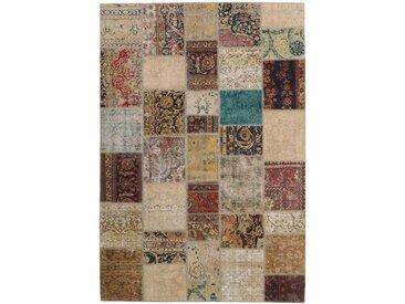 Patchwork Teppich Perserteppich 299x203 cm Handgeknüpft Modern