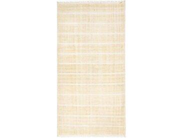 Kelim Fars Antik Teppich Perserteppich 286x145 cm, Läufer Handgewebt Klassisch