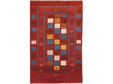 Perser Gabbeh Loribaft Teppich Orientalischer Teppich 221x136 cm Handgeknüpft Modern