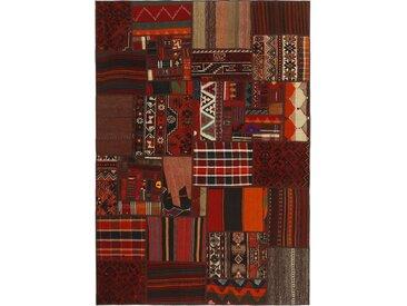 Kelim Patchwork Teppich Persischer Teppich 201x139 cm Handgewebt Klassisch