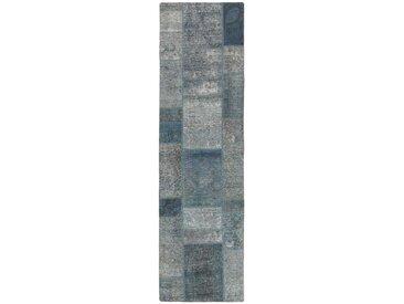 Patchwork Teppich Perserteppich 252x72 cm, Läufer Handgeknüpft Modern