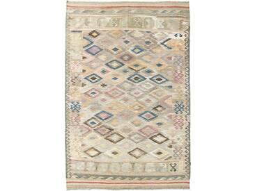 Kelim Afghan Heritage Teppich Orientalischer Teppich 307x204 cm Handgewebt Design Modern