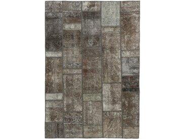 Patchwork Teppich Perserteppich 206x139 cm Handgeknüpft Modern