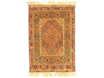 Kelim Sirjan Teppich Orientalischer Teppich 186x126 cm, Pakistan Handgewebt Klassisch