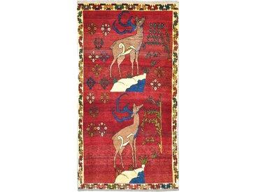 Perser Gabbeh Alt Teppich Orientalischer Teppich 189x99 cm, Läufer Handgeknüpft Modern