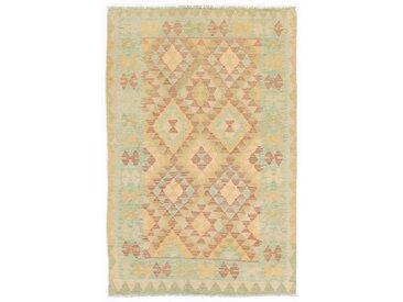 Kelim Afghan Teppich Orientalischer Teppich 153x100 cm Handgewebt Klassisch