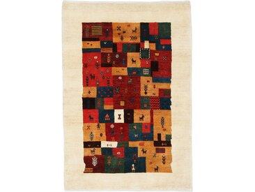 Perser Gabbeh Loribaft Teppich Orientalischer Teppich 149x102 cm Handgeknüpft Modern