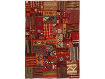 Kelim Pathwork Teppich Perserteppich 230x162 cm Handgewebt Klassisch
