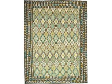 Kelim Afghan Heritage Teppich Orientalischer Teppich 343x264 cm Handgewebt Design Modern