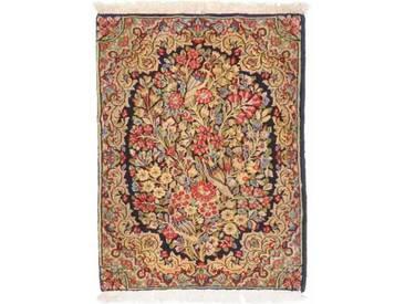 Kerman Teppich Orientalischer Teppich 76x54 cm Handgeknüpft Klassisch