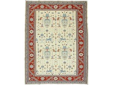 Kelim Soumak Teppich Orientteppich 364x273 cm Handgewebt Klassisch