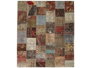 Patchwork Teppich Orientteppich 301x258 cm Handgeknüpft Modern