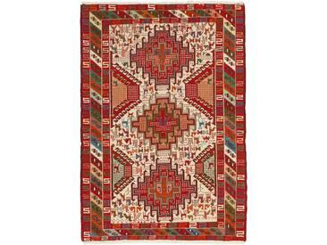 Kelim Soumak Shahsavan Teppich Orientalischer Teppich 146x100 cm Handgewebt Klassisch