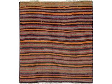 Kelim Fars Teppich Orientalischer Teppich 151x141 cm, Quadrat Handgewebt Klassisch