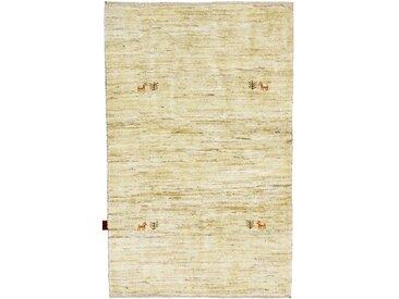 Perser Gabbeh Natural Teppich Orientteppich 154x101 cm Handgeknüpft Modern