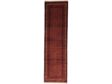 Turkaman Old Teppich Orientteppich 284x85 cm, Läufer Handgeknüpft Klassisch